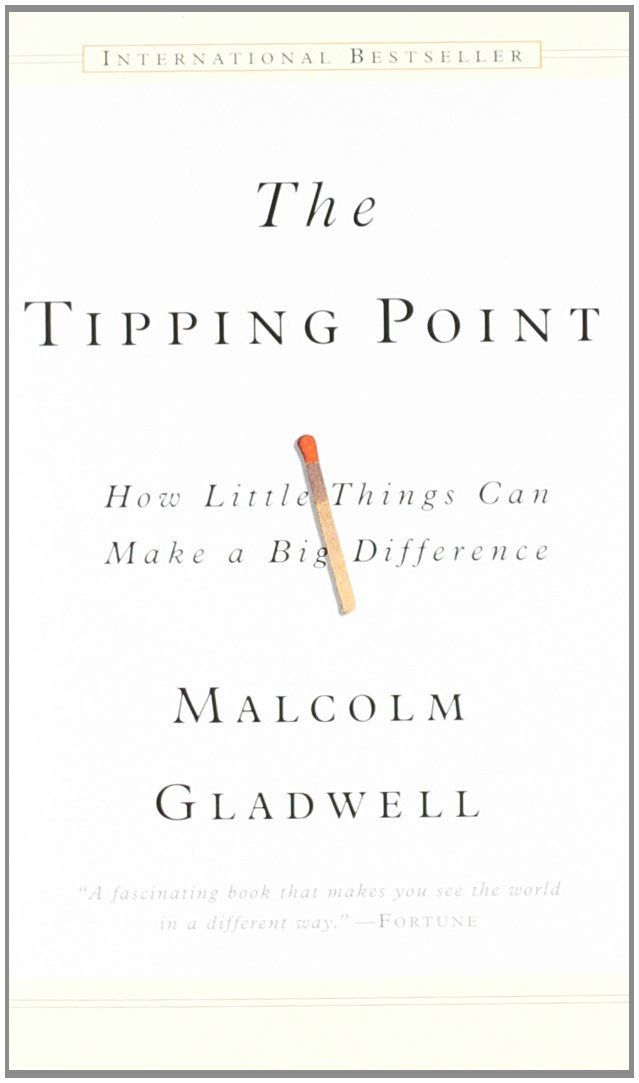 The Tipping Point is that magic moment when an idea, trend, or social behavior crosses a threshold, tips, and spreads like wildfire. Just as a single sick person can start an epidemic of the flu, so too can a small but precisely targeted push cause a fashion trend, the popularity of a new product, or a drop in the crime rate. This bestselling book, in which Malcolm Gladwell brillantly illuminates the tipping point phenomenon, is already changing the way people throughout the world think about selling products and disseminating ideas.